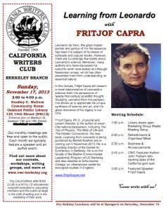 Fritjof Capra flyer