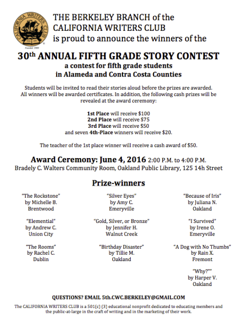 california writing contests Short story and other creative writing contests and competitions with big cash prizes like the ones below can provide a real step up for writers writing competitions.