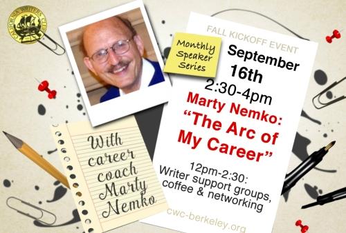 Sept 16th Marty Nemko at Preservation Park