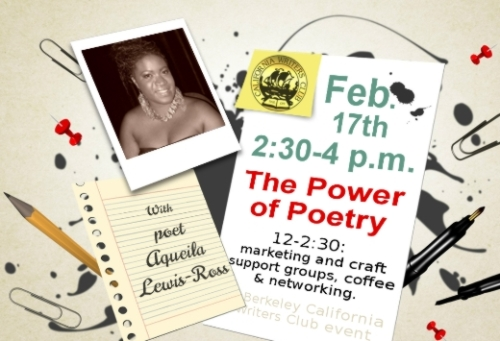Aqueila Lewis-Ross speaks Feb 17th for Berkeley CA Writers Club